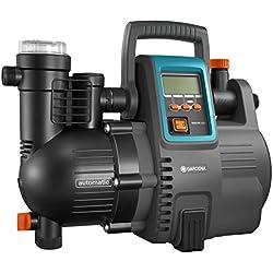 GARDENA Station de pompage 5000/5E LCD Comfort: pompe domestique, économie d'énergie, débit 5000 l/h, moteur 1300W avec protection thermique, protection contre la marche à sec (1759-20)