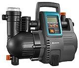 GARDENA Station de pompage 5000/5E LCD Comfort : pompe domestique, économie d'énergie, débit 5 000 l/h, moteur 1 300 W avec protection thermique, protection contre la marche à sec (1759-20)