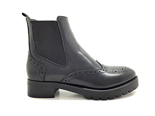 CHIC NANA . Chaussure femme bottine en similicuir, style richelieu.