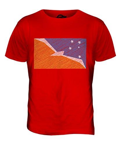 CandyMix Feuerland Kritzelte Flagge Herren T Shirt Rot