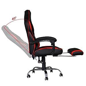 4127OFFQLAL. SS300  - HG-Silla-Giratoria-De-Oficina-Gaming-Chair-Apoyabrazos-Acolchados-Premium-Comfort-Silla-Racing-Capacidad-De-Carga-200-Kg-Altura-Ajustable-NegroRojo