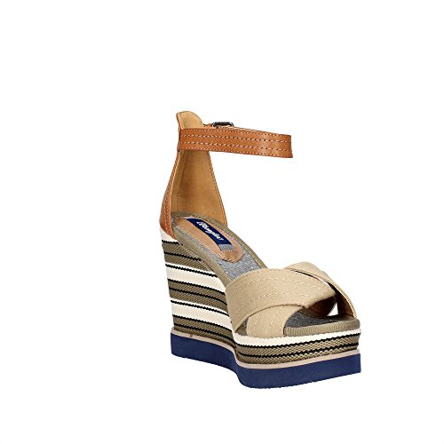 Wrangler WL171662 Chaussures Compensées Femme Marron Taupe