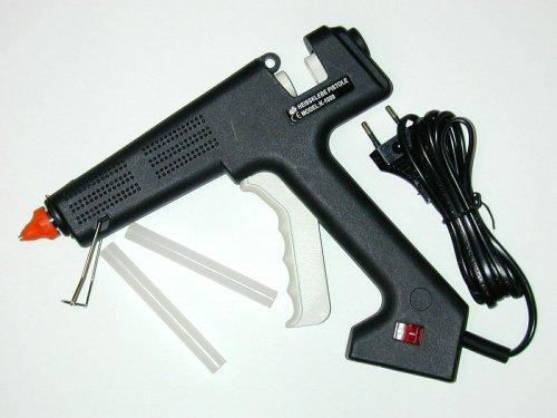 Ironside 143105 - Pistola professionale per colla a caldo, con 100 W di potenza e 2 aste per colla