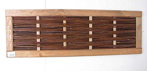 Dekoratives Hochbeetelement Kiefer/Weide 120 x 30 cm Beeteinfassung Zaunelement