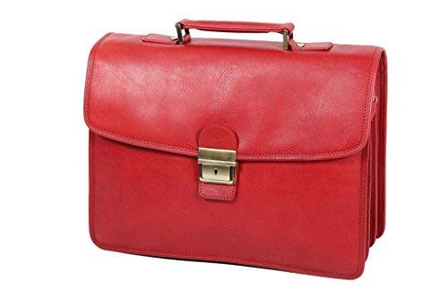 Katana Schul/Akten-Tasche Rindsleder K31033 Rot - rot