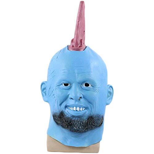 QWEASZER Guardians of The Galaxy Vol 2 Mask Neuheit Halloween Kostüm Helm Deluxe Latex Film Cosplay für Erwachsene,Blue-OneSize (Avengers 2 Deluxe Hulk Kostüm)