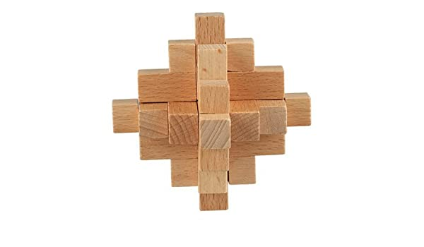 Rupum (TM Classic Burr Puzzle 15-piece Wooden Interlocking