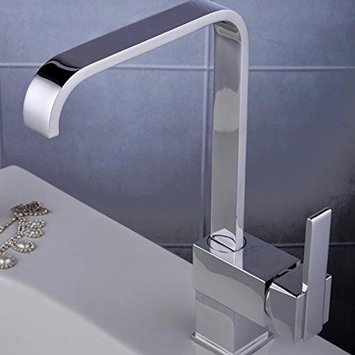 QINQIN Rame Ruota Chrome calda e fredda Mix bagno rubinetto