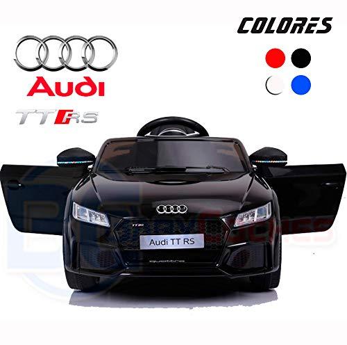 BC Babycoches-Coche electrico 12 V para niños, Licencia Oficial Audi TT RS, Mando Parental, monoplaza, Equipo Audio (Negro)