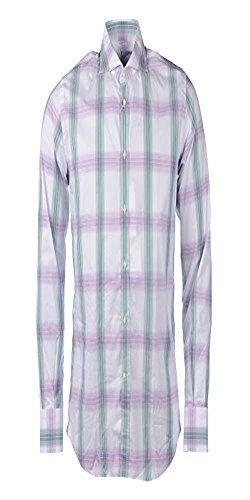 Delsiena -  camicia casual  - uomo green, purple, white