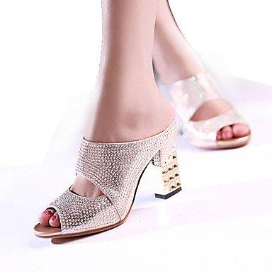 LvYuan Sandali-Formale Casual Serata e festa-Club Shoes-Quadrato-Sintetico-Nero Rosso Argento Dorato Black