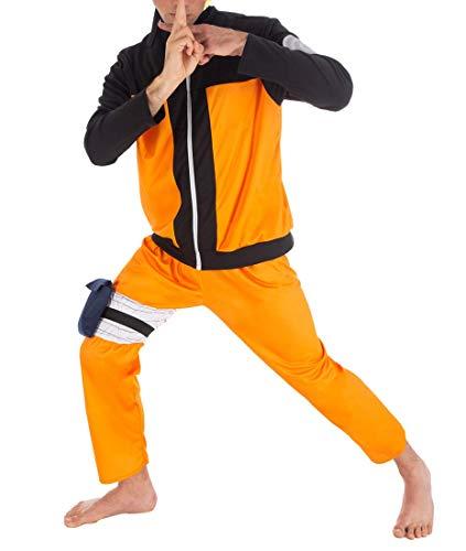 Shippuden Kostüm Naruto - CoolChange Naruto Shippuden Ninja Kostüm von Naruto Uzumaki, Größe: M