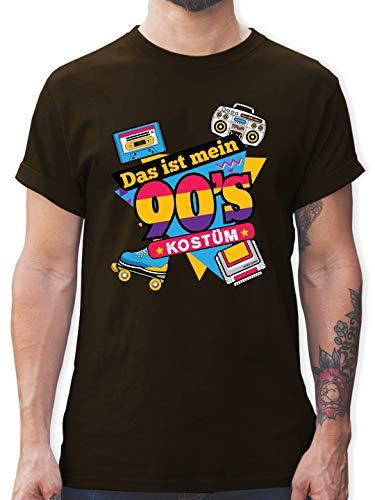 Karneval & Fasching - Das ist Mein 90er Jahre Kostüm - L - Braun - L190 - Herren T-Shirt und Männer Tshirt (Lustige Ideen Für Gruppen Kostüm)