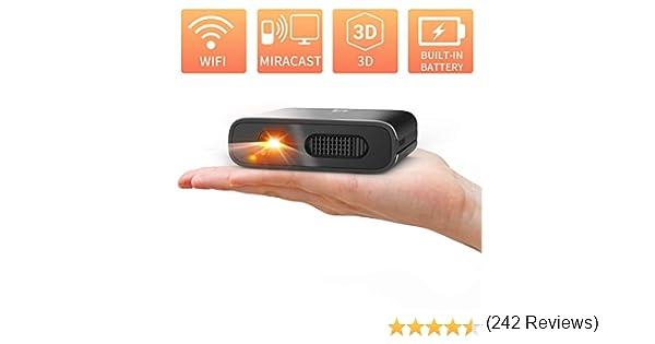 Mini proiettore WiFi DLP ricaricabile Supporta 1080P e 3D con USB film allaperto Android laptop per home entertainment compatibile con iPhone