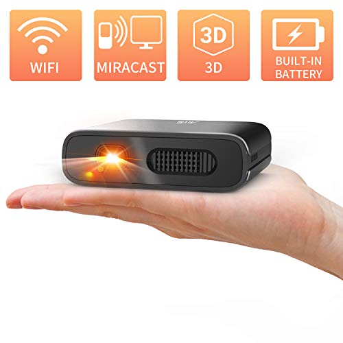 Mini Proiettore Portatile WiFi 3D - Artlii Mana DLP Videoproiettore, Batteria Integrata Ricaricabile, per Smartphone / Telefono/ IPhone / Android