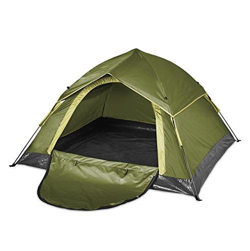 Lumaland Outdoor leichtes Pop Up Wurfzelt 3 Personen Camping robust verschiedene Farben Grün - 4