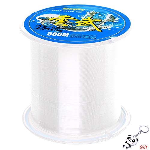 Ofoen bobina di filo da pesca, n. 2.5,in nylon trasparente, adatto anche per gioielli fai da te (un rotolo)