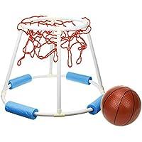 Tosbess Juego Canasta Baloncesto Hinchable Flotante Baloncesto Flotante para Piscina