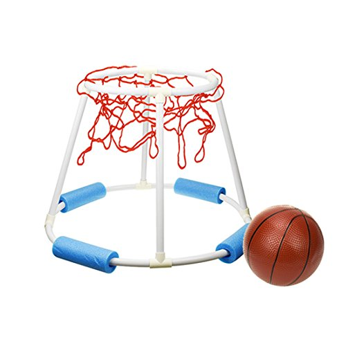H0_V Basketball Spiel mit Ball - Wasser Basketball Spielzeug Schwimmendes Poolspielzeug(61x61x45cm) - Basketball-spiel Ball
