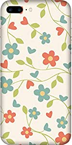 Abstract Floral Printed Back Cover Case For Apple-iPhone-7-Plus