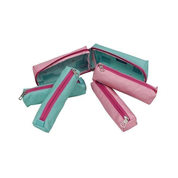 Pepe Jeans 6254651 Bicolor Maletín, 1.78 litros, Color Rosa