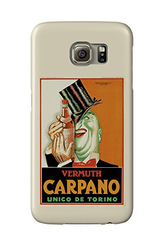 Vermuth Carpano - Unico e Torino Vintage Poster (artist: Mauzan) Argentina c. 1927 (Galaxy S6 Cell Phone Case, Slim Barely There)
