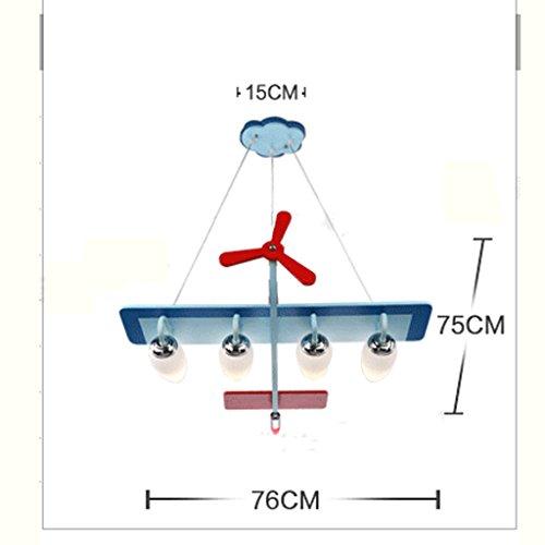 Guo Kinderzimmer-Lichter Jungen-Raum-Flugzeug-Lichter Kronleuchter-Pers5onlichkeit-kreative Lampen E14 Lampen-Hafen - 5