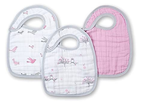 aden + anais for the Birds Snap Bib (Pack of 3)