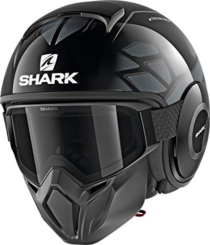 Shark Casco Jet Drak Street hurok NERO ANTRACITE KSK Taglia XL