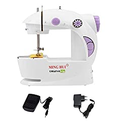 CreativeVia 4in1 Portable & Compact Electric Mini Sewing Machine ( light scratch on machine)