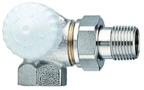 TA Heimeier Thermostat-Ventilunterteil V-exakt II Wi-Eck li RG vernickelt 1/2 Zoll, 3713-02.000
