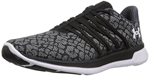 Under Armour Women's Charged Transit, Black/Overcast Gray/White, 6 B(M) US -