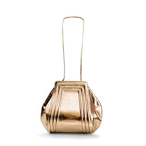Gretchen, Borsa a spalla donna Multicolore (Bronze Metalic)
