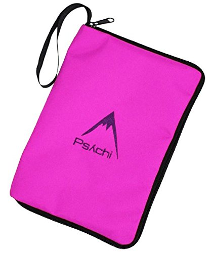 Psychi arrampicata outdoor hiking guide book manuale map zip case, pink