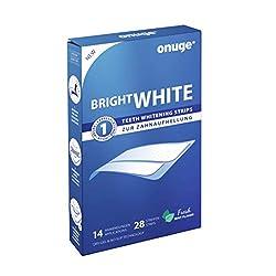 Onuge White Strips Zahnbleaching-Set für weiße Zähne (28 Zahnaufhellungs-Streifen)