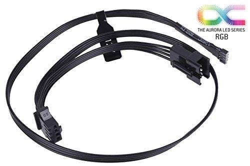 Alphacool 18540 RGB 4pol LED Adapterkabel für Mainboards 50cm - Schwarz Kabel Sonstige Kabel