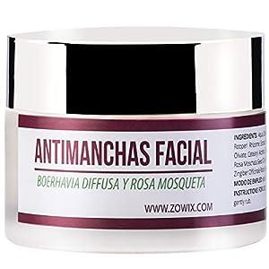 ZOWIX. Crema antimanchas facial. Antiarrugas, Hidratante y Reparadora. Crema despigmentante y quita manchas. Unifica y…