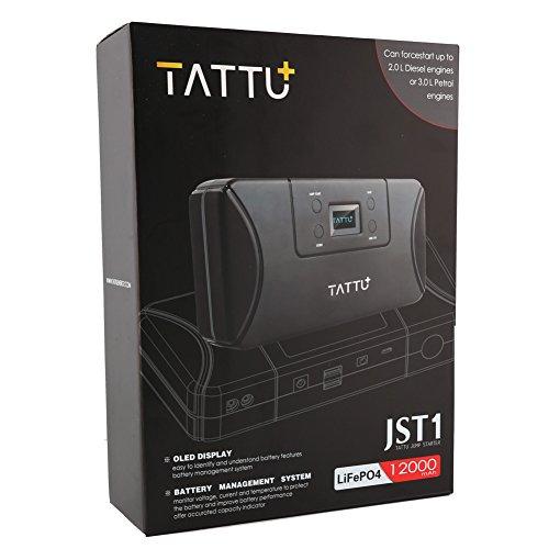 Tattu Jumpstarter JST1 V2 12000 mAh OLED Lifepo4 Profi Lithium Starthilfegerät