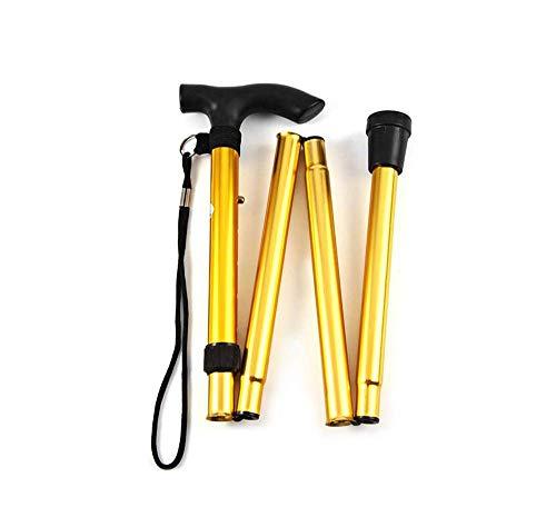 SuRose Folding Cane Freedom Edition Verstellbarer Leichter Aluminium-Gehstock mit versenktem Gehstock - Faltbarer Gehstock mit ergonomischem Gehstock für Männer, Frauen - Cane Faltbare Quad
