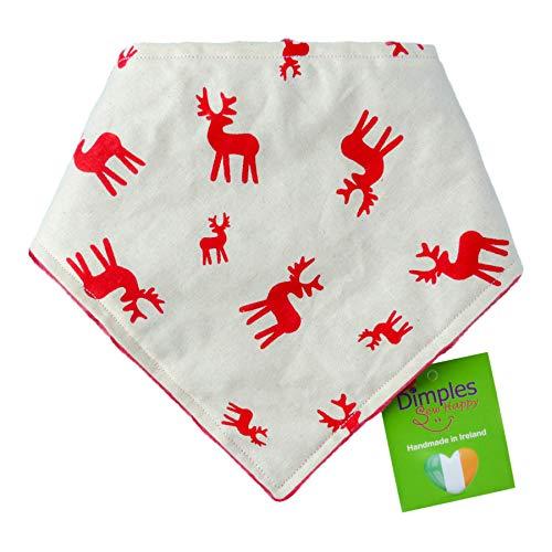 Dimples Hundehalstuch - Weihnachten Rentiere Hirsche Halstuch für kleine mittlere und Grosse Hunde Welpen und Katzen - Hunde Handgemachtes Hunde Accessoire 60cm
