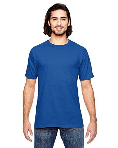 Koi auf American Apparel Fine Jersey Shirt Neon Blue