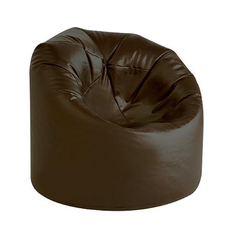 XL Bean Bag BROWN Faux Leather Bean Bags - Extra Large Bean Bag Chair