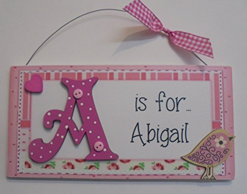 personalised-bird-heart-childrens-door-plaque-sign-pink-any-name-initial-available-to-order-any-name