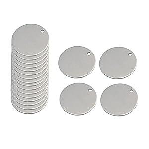 20 Stück Metall Flachen Runden Kreis Leere Münze Stempeln Charms Tag Anhänger