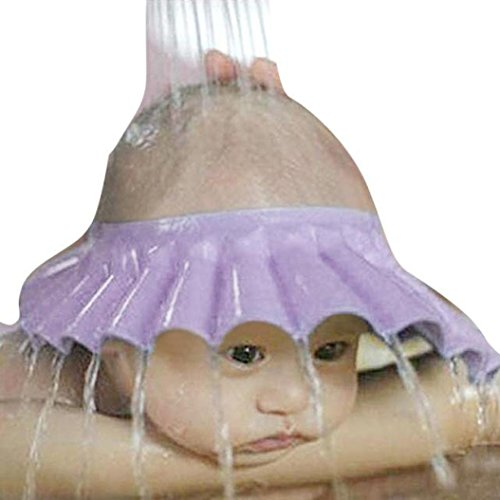 Shampooaugenschutz Kinder Hut LMMVPShampoo Shower Bathing Protection Soft Cap Hat Baby Unisex Mütze Outdoor Camping Strandhut Sommerhut Kinder Mütze Cap Hut Baby Kappe Hut Sonnenschutz (Lila)