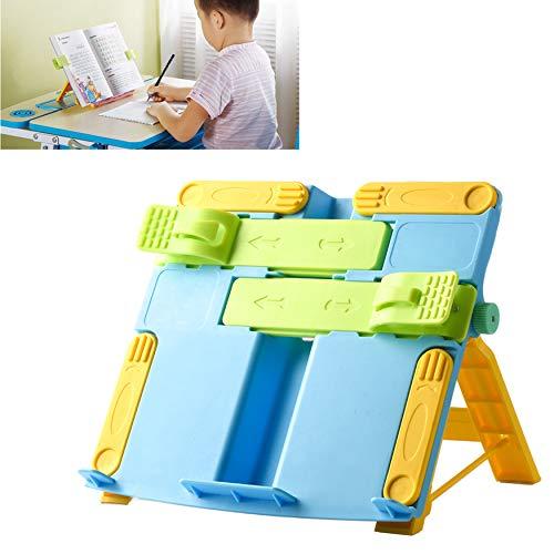 YAVO-EU Soporte de Libro Lectura Atril Ajustable Plegable Sostenedor Sujetalibros Portátil De Lectura para Niños Estudiante De Escritura del Soporte Accesorios (Azul)
