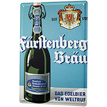 Bière Plaque Émaillée Décor Rétro Fürstenberg depuis 1705 AmUSAnt Salle De Fête