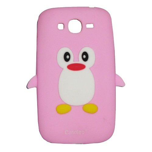 Casotec Penguin Silicone Jelly Back Case Cover for Samsung Galaxy Grand i9082 - Baby Pink  available at amazon for Rs.125