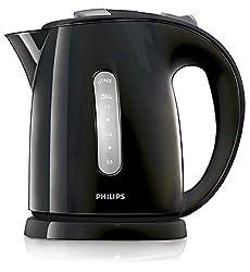 Philips HD4646/20 Serie Wasserkocher (1,5 Liter, 2400 Watt, Anti-Kalk), Schwarz