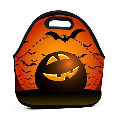 Lunch-Taschen für Damen, Halloween-Nacht, Mädchen, wiederverwendbare Snack-Taschen, süße Kleinkinder, Lunchtasche, Boxen, 3D-Druck, kleine Handtaschen